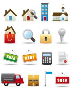 Иконки про недвижимость