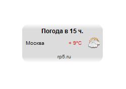 HTML-код информера погоды в Москве