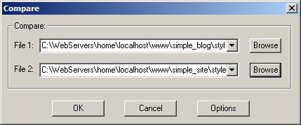 Смотреть изображение файла ExamDiff 1.7 - программа для сравнения двух текстовых файла