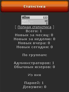 скрипт для ucoz статистика